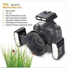 マイクスMK MT24 2.4グラムワイヤレスマクロフラッシュツインliteフラッシュD800 D7000 D2 D3ミラーカメラttl