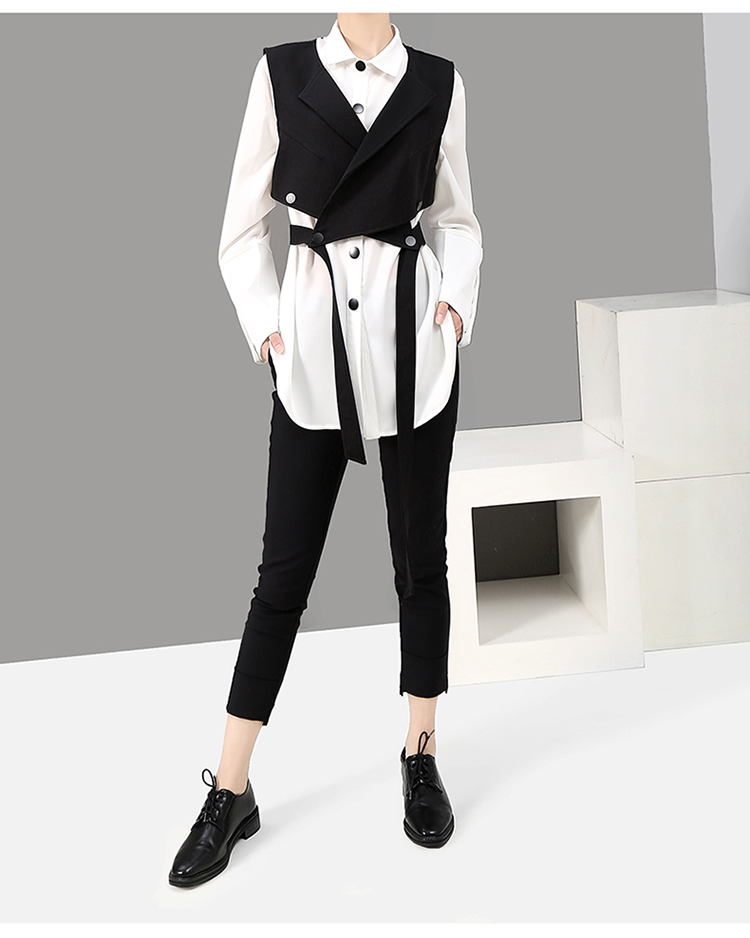 New Fashion Style Two Piece Set Blouse Shirt And Vest Fashion Nova Clothing