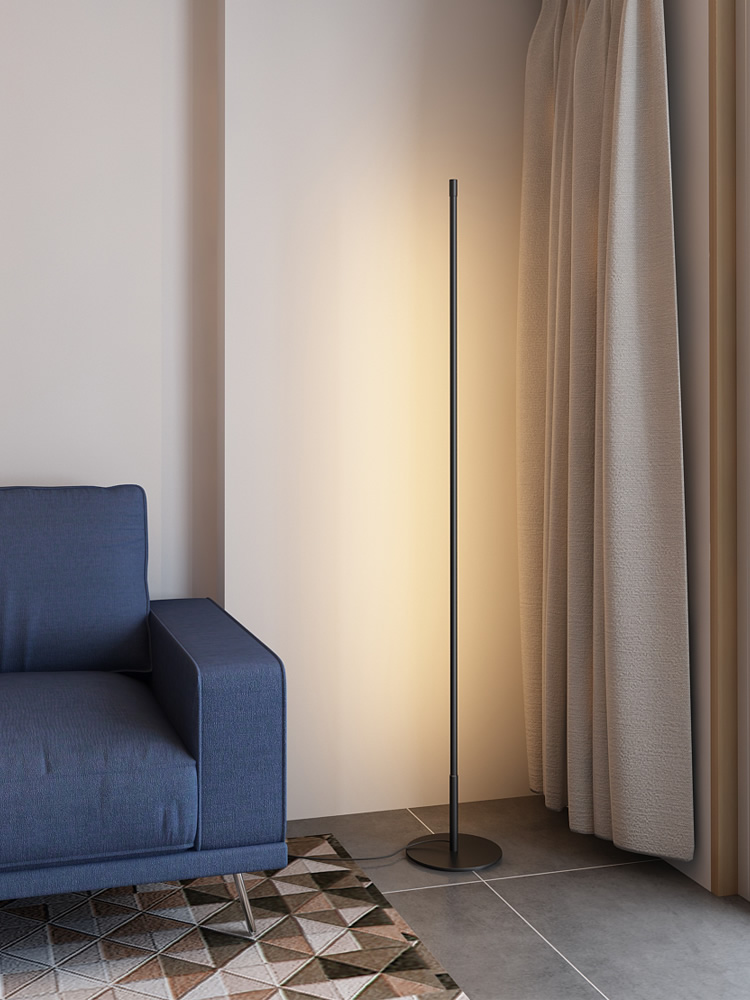 Tira minimalista lâmpada de assoalho moderna para