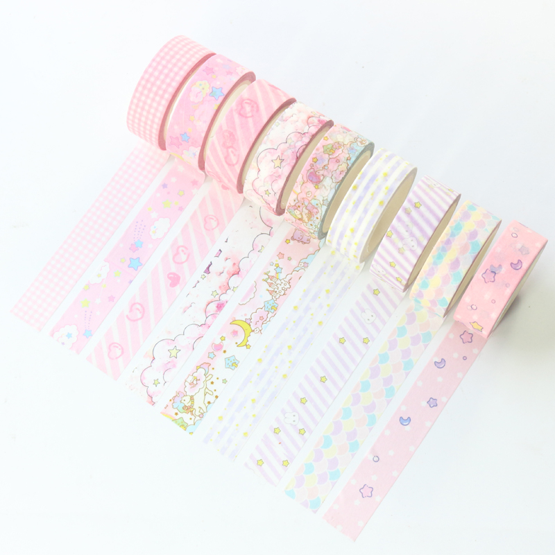 Candy Kawaii Japanese Cartoon School Decorative Washi Tape For Diary Planner Stationery,cute DIY Craft Paper Masking Tape,1.5*7m
