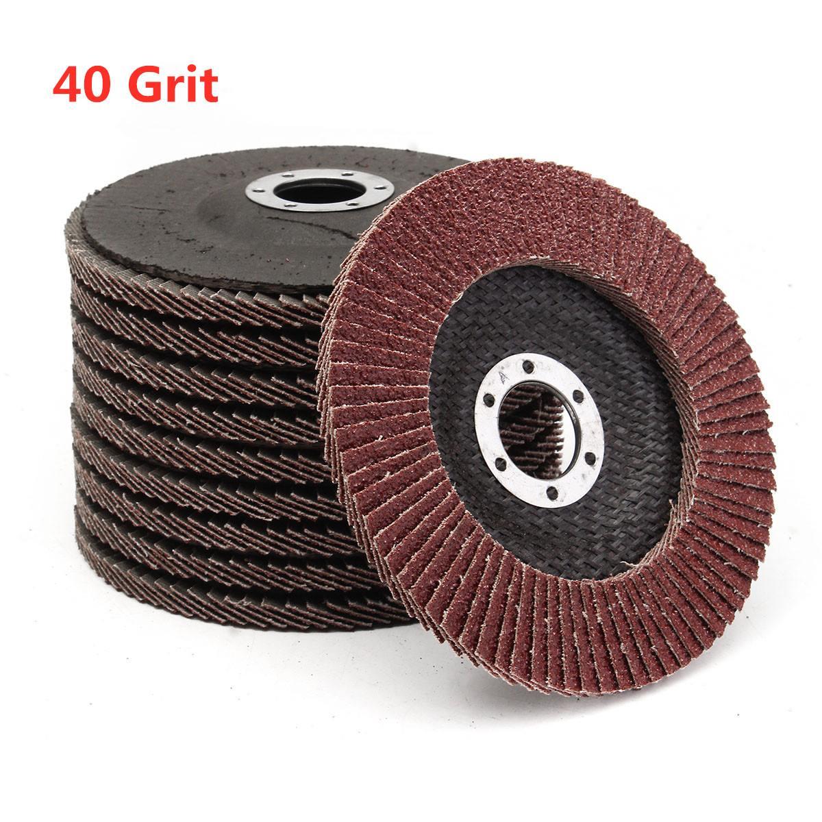 10pcs 5 Inch 125mm 40 Grit Flap Discs Aluminum Oxide Flap Disc Sanding Grinding Wheel Abrasive Tools