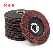 10 stücke 5 Inch 125mm 40 Grit Flap Discs Aluminium Oxid Klappe Disc Schleifen schleifen Rad Schleif Werkzeuge