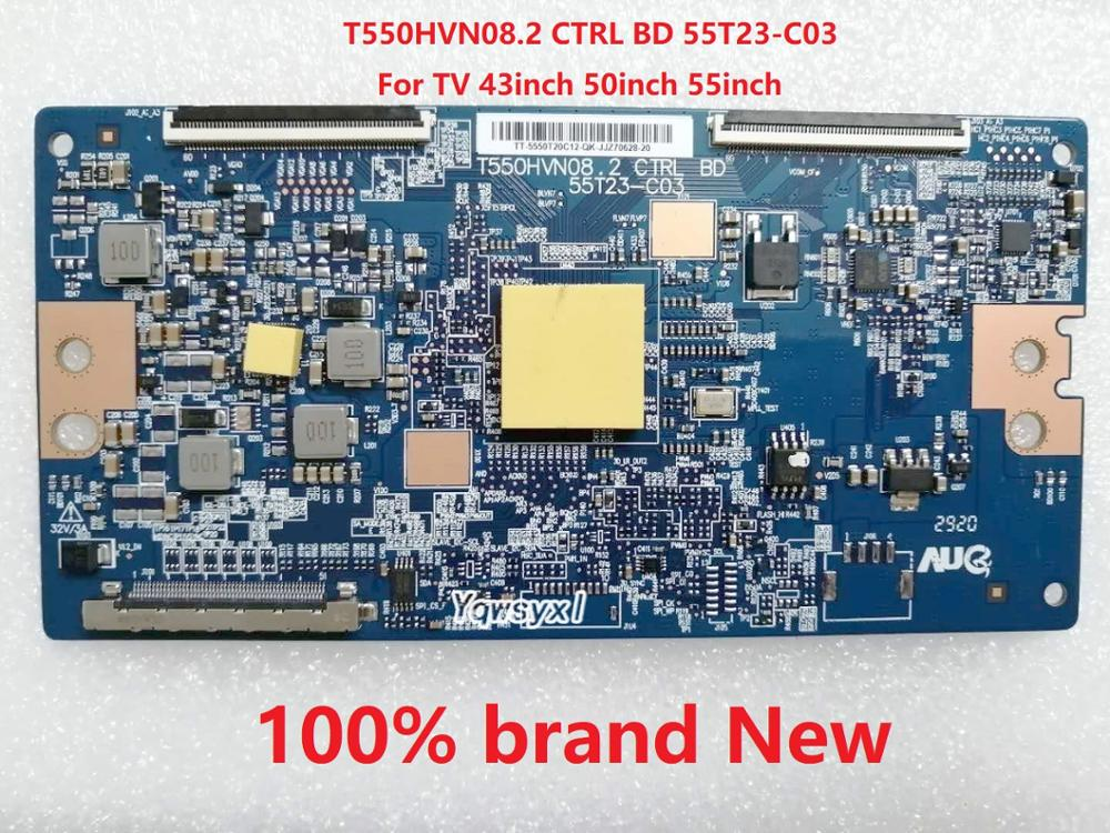 Yqwsyxl 100% brand New logic Board T550HVN08.2 CTRL BD 55T23-C03 LCD Controller TCON logic Board for TV 43inch 50inch 55inch(China)
