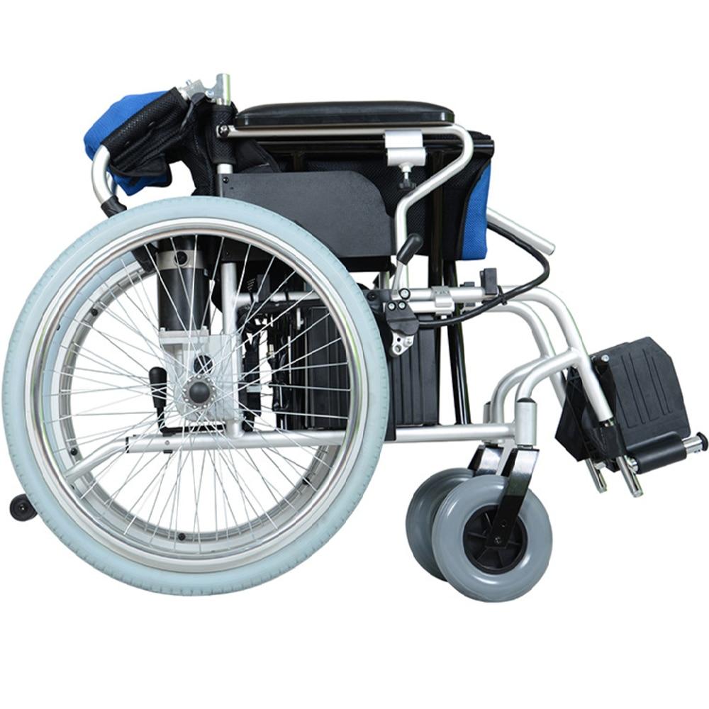 2019 חדש חשמל כיסא גלגלים מהיר מתקפל אור משקל ABS חכם בלם עבור נכים ישן אנשים אופנתי ללכת כיסא