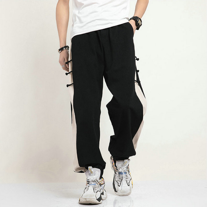 Chinese Style Loose Men Harem Pants Japanese Botto