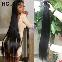 36 38 40 Inch Brazilian Hair Weave Bundles Straight Human Hair 1 3 4 Pieces Natural Color Thick Remy Human Hair Double Wefts