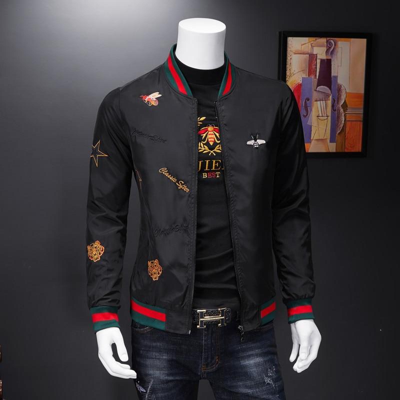 Men Bomber Jacket Thin Slim Long Sleeve baseball Jackets Windbreaker Zipper Windbreaker Jacket Male Outwear Brand Clothing Y278 4