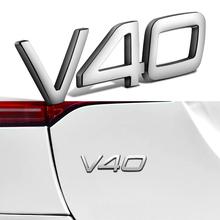 Srebrny V40 naklejka na bagażnik dla Volvo V40 XC40 XC60 XC70 XC90 S60 S80 S70 S90 V90 C30 C70 D5 T4 T5 T6 T8 Volvo naklejki samochodowe naklejki tanie tanio CN (pochodzenie) 1inch Car Sticker For VOLVO Posiadacze samochodów disc podatku 0 02kg Side Fender Sticker For VOLVO Car Side Fender Sticker