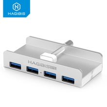 Hagibis Ultra thin USB 3.0 HUB 4 Port High-Speed Aluminum Usb Hub Splitter USB Power Interface for Computer Macbook Usb Hub u008 used agilent 82357b usb gpib interface high speed usb 2 0 used but in good condition