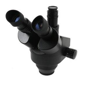 Image 3 - 7 45X 3.5X 90Xサイマル焦点三眼実体顕微鏡シングルアーム回転ブラケット補助対物レンledランプ