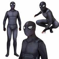 Spider-Man loin de la maison Costume furtif costume Spiderman Noir Cosplay Noir body Costume combinaisons super-héros costume Halloween