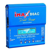 B6 AC IMAX Mini 80W 6A RC Charger Lipo Battery Balance Charger for Drone Nimh Nicd Battery Balance Charger RC Discharger EU Plug