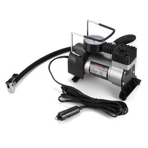 Image 1 - 12V Portable Car Electric Inflator Pump Air Compressor 100PSI Electric Tire Tyre Inflator Pump for for Auto Bicycles Motorcycl