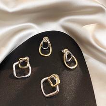 Moda simples geométrica do parafuso prisioneiro brincos de metal selvagem quadrado melhor presente para as mulheres menina criativa liga jóias retro earrinen