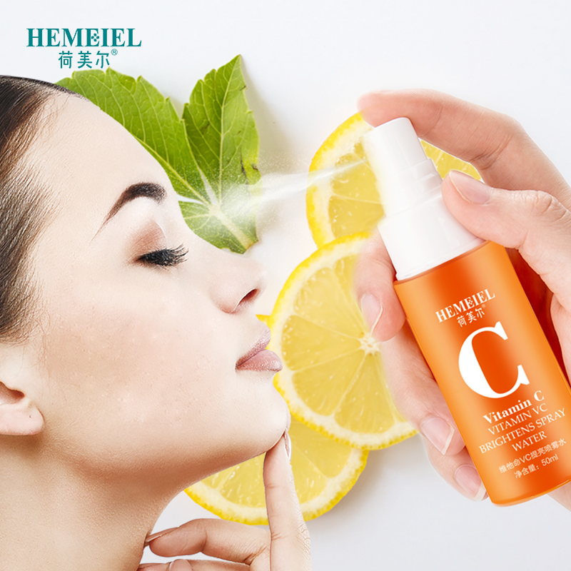 HEMEIEL 100% Pure Vitamin C Toner Brightening Facial Spray Moisturizing Face Serum Shrink Pores Oil Control Whitening Skincare