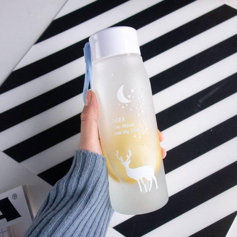 560ml Water Bottle Leak Proof for Girl Biking Travel Portable Water Bottles Plastic  2
