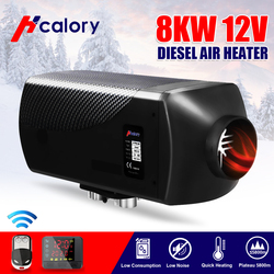 HCalory 12V 8KW Car Diesels Air Parking Heater Car Heater LCD Remote Control Monitor Switch Trucks Bus Trailer (Simple Version)