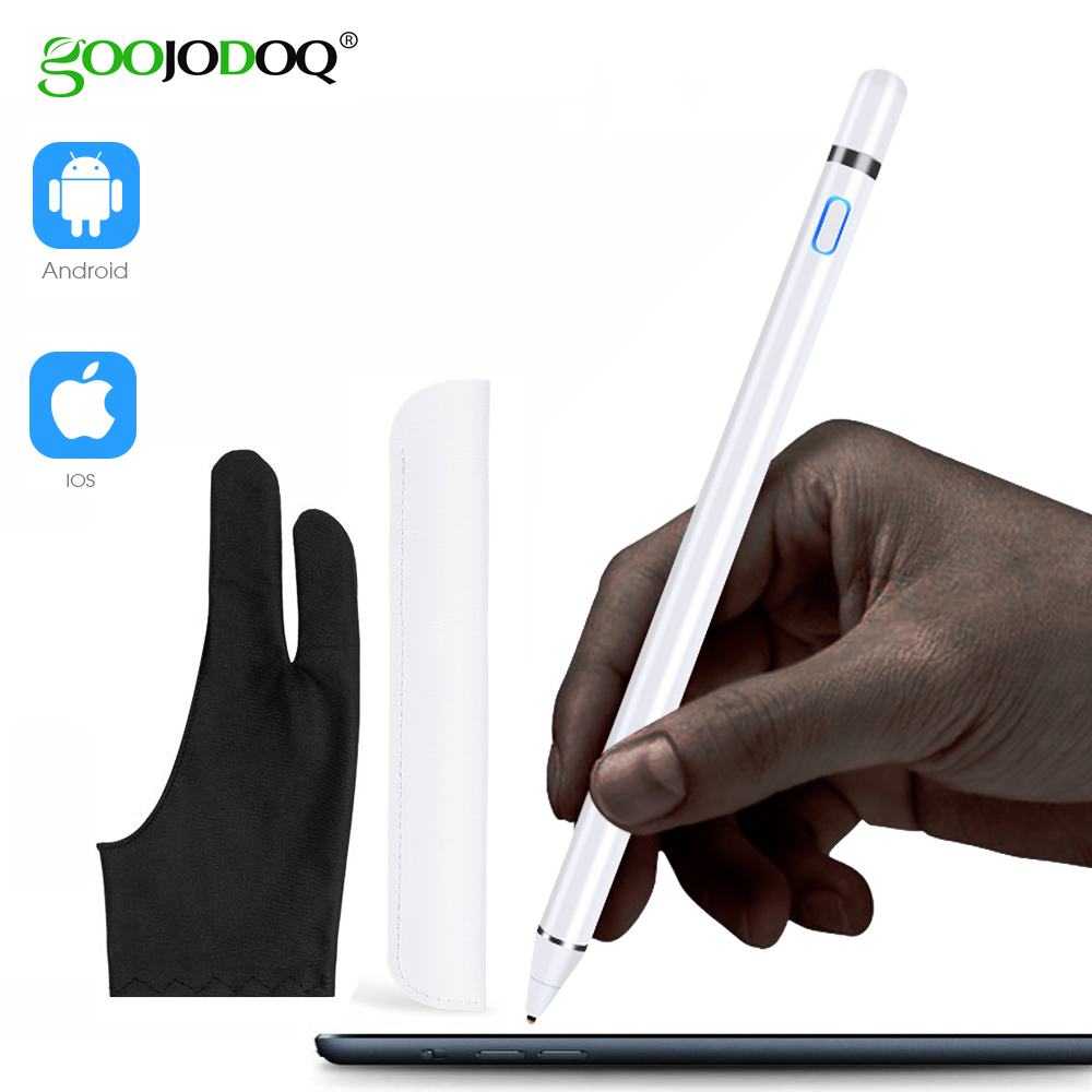 GOOJODOQ Stylus Pen Touch For Apple Pencil IPad Pro Air 2 3 Mini 4 Stylus Pen For Samsung Huawei Tablet IOS/Android Mobile Phone