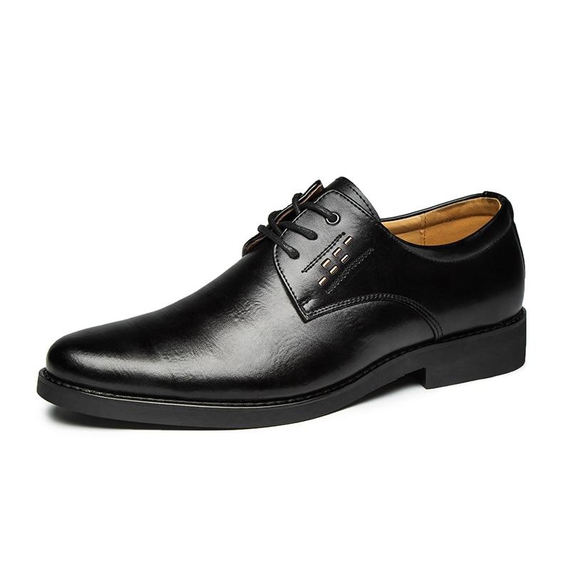 2020 Formal Shoes Men Round Toe Men Dress Shoes Leather Men Oxford Shoes For Men Fashion Dress Footwear