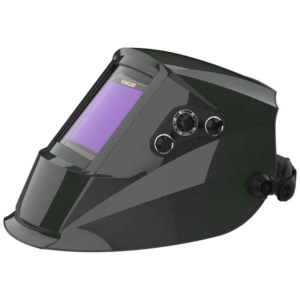YESWELDER Vero Colore Maschera di Saldatura di Energia solare Casco di Saldatura Auto Oscuramento maschera di Saldatura Cappuccio per TIG MIG ARC EH-091X-G/R