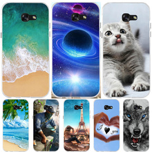 For Samsung Galaxy A5 2017 Case Silicone Ultra Thin Cover Animal A520F Phone Cases