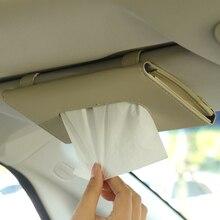 1PC Auto Tissue Box Handtuch Sets Auto Sonnenblende Tissue Box Halter Auto Innen Lagerung Dekoration Auto Zubehör