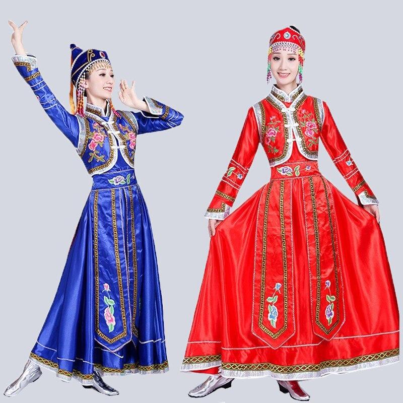 Songyuexia New Mongolian costumes women's wear Inner Mongolia dance costumes Mongolian gown adult minority costumes dress Female