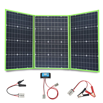 Xinpuguang Brand 150w 20v mono solar panel flexible foldable 50w*3 for home charger kit controller 5v usb for 12v battery china
