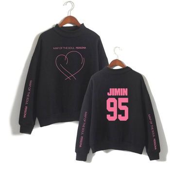 JIMIN J-HOPE JUNG KOOK SUGA Girls Turtleneck Hoodie Print Black Street Wear Harajuku Fashion Casual Ladies Turtleneck Sweatshirt turtleneck husky turtleneck