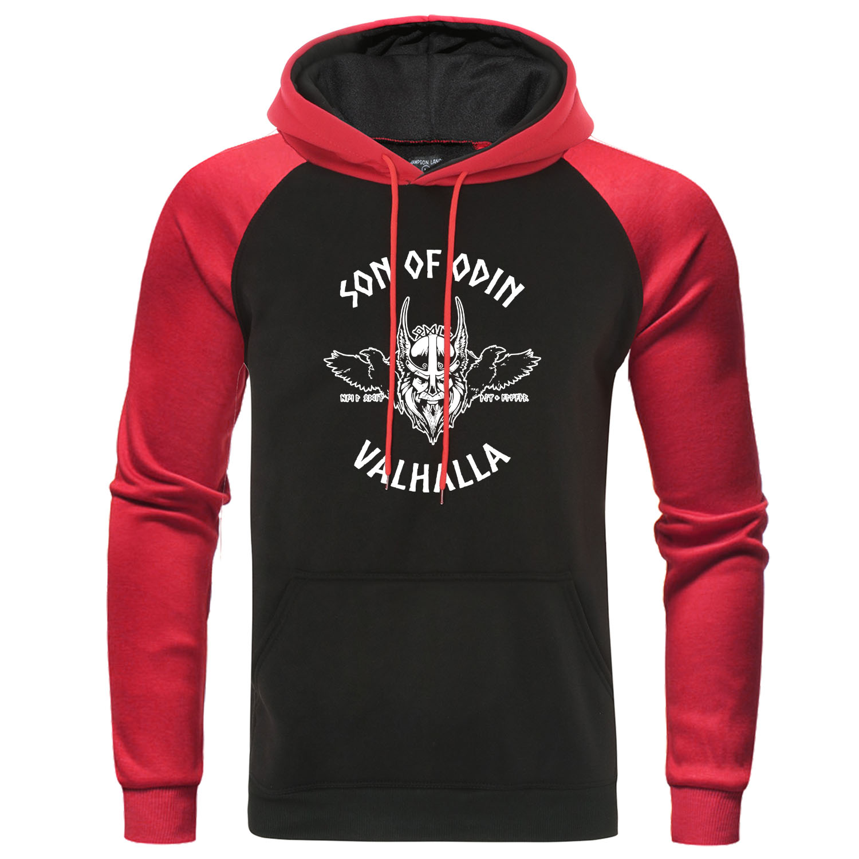 Son Of Odin Valhalla Hoodies Gott Vikings Wikinger Men Sweatshirt Autumn Raglan Pullover Streetwear Men's Casual Hip Hop Hoody