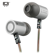 цена на Original KZ ED4 In Ear Stereo Earphones With Mic For Mobile Phone Metal HIFI Earbuds Bass Noise Isolating Headset Earbuds 9.6mm