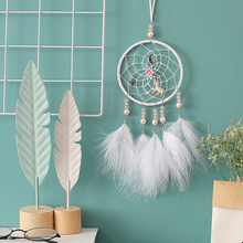 Dream Catcher Handmade Traditional White Feather Home Decor Wall Hanging Car Ornament Craft Gift  Wedding Decor