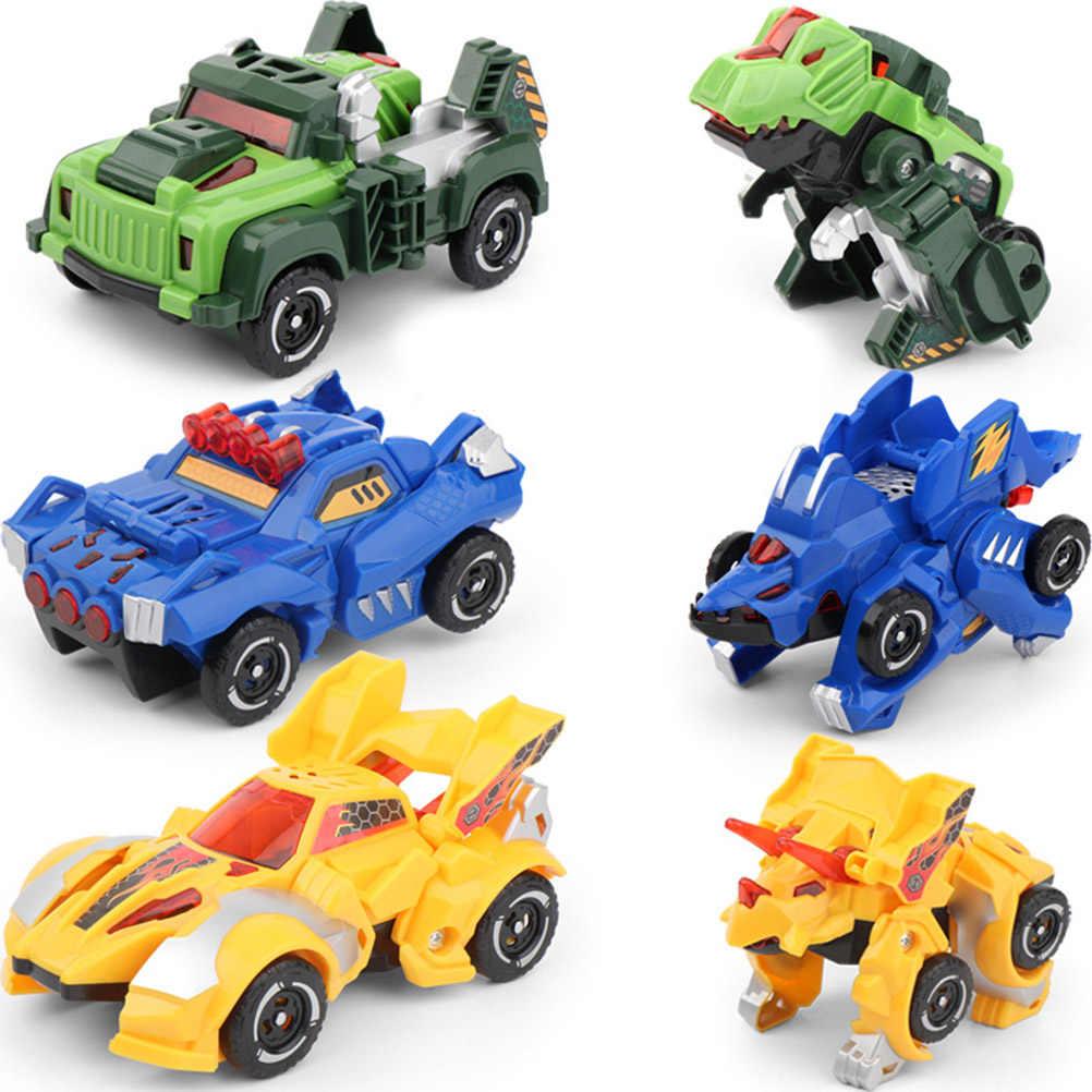הפיכת דינוזאור מכוניות צעצוע אוטומטי דינו דינוזאור שנאי צעצוע רכב למשוך בחזרה מכונית דינוזאור ילדים צעצוע לילדים מתנה