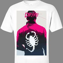 DRIVE Ryan Gosling TShirt S-3XL scorpion jacket movie print Nicolas Winding Refn Popular Style Man T-Shirt Top Tee