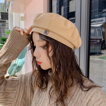 Fashion Beret Cap Women Casual PU Leather Caps Hat for Ladies Younger Girl Autumn Winter Retro Beanie Hot Sale