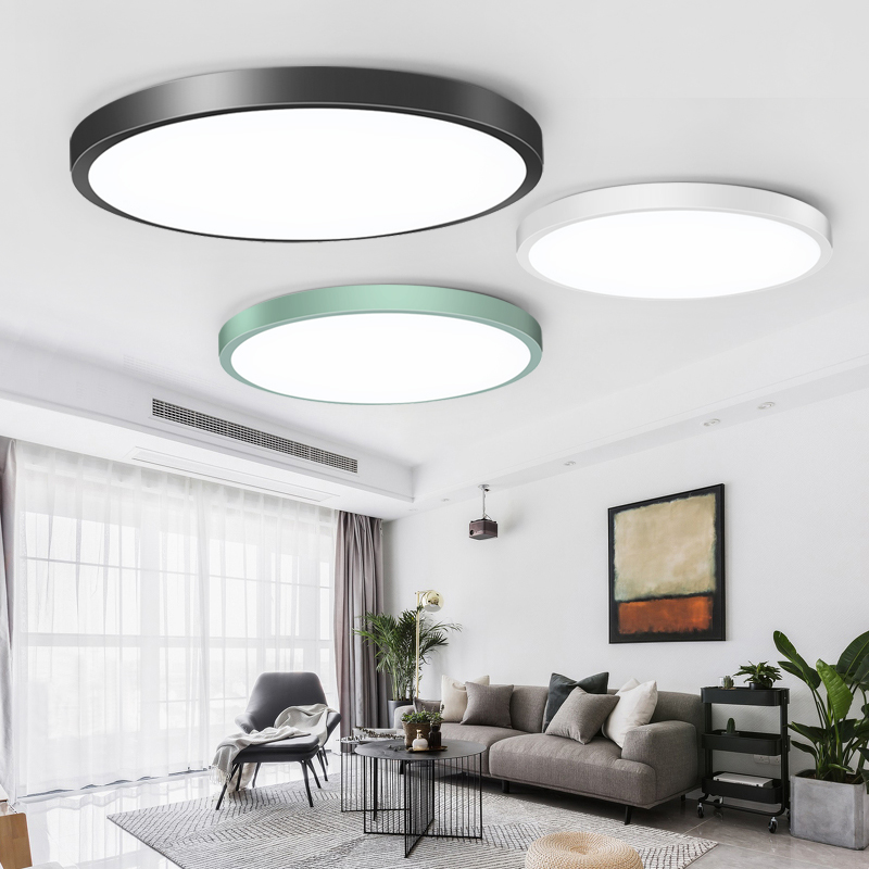 Led Ceiling Lights 220V Modern LED Ceiling Lamp Lighting Round Fixture Living Room Kitchen Surface Mounted Panel Lamp 50W 70W
