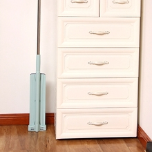 Spin Flat Mop Free Hand Washing Stainless Steel Handle Spin Mop Home House Office Cleaning Tool Pad Kitchen Floor Clean