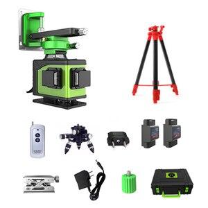 Image 5 - 16 ライン 4D レーザーレベル 360 垂直と水平レーザーレベル自己レベリングクロスライン 4D グリーンレーザーレベル屋外