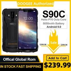 Модульный усиленный мобильный телефон DOOGEE S90C, Helio P70 восемь ядер, 4 Гб 64 ГБ, 16 Мп + 8 Мп, экран 6,18 дюйма, 12 В, 2 А, 5050 мАч, Android 9,0, IP68