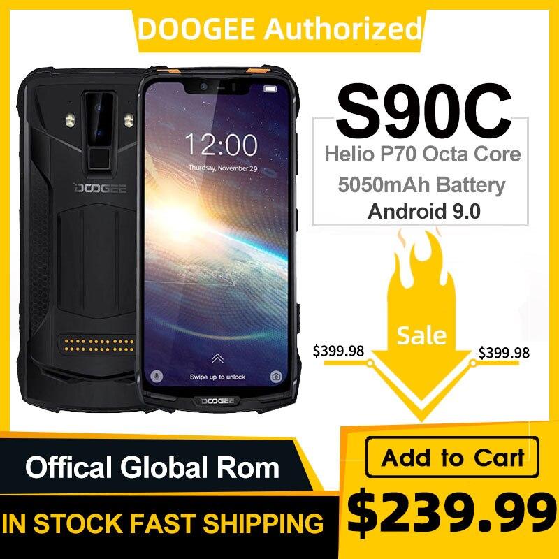 IP68 DOOGEE S90C modułowe wytrzymały telefon komórkowy Helio P70 octa core 4GB 64GB 16MP + 8MP 6.18 cal wyświetlacz 12V2A 5050mAh Android 9.0