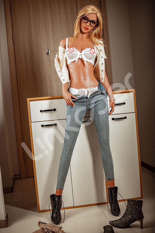 Hc371442b2e324b4286ddebf2f5557639V Linkooer-Muñeca Sexual realista de silicona para hombre, juguete Sexual de 165cm Con pechos suaves y pegas, rubia, bonita, para adultos