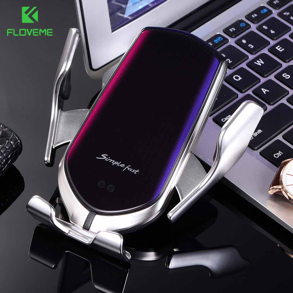 FLOVEME Gravity Car Phone Holder Wireless Charger Air Outlet Mount Phone Holder In The Car For IPhone 11 8 Mobile Stand Support