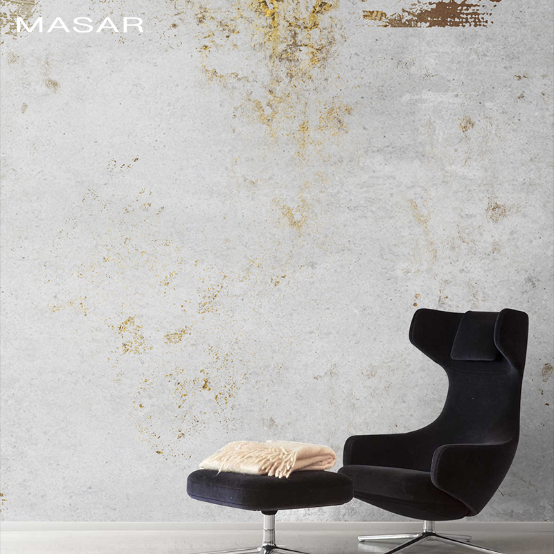 MASAR Simple Old Art Mural Cafe Bar Background Wall Paper Environmental Protection Waterproof Wallpaper Mottled