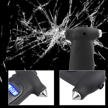 5 in 1 Tire Pressure Gauge Digital Monitoring Car Tyre Air Pressure Gauge Meter LCD Display with Window Broken Hammer