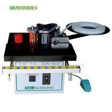 manual edge banding Machine straight & curve Automatic strip break double side glue speed controlc wood mini edge bander 1000ML