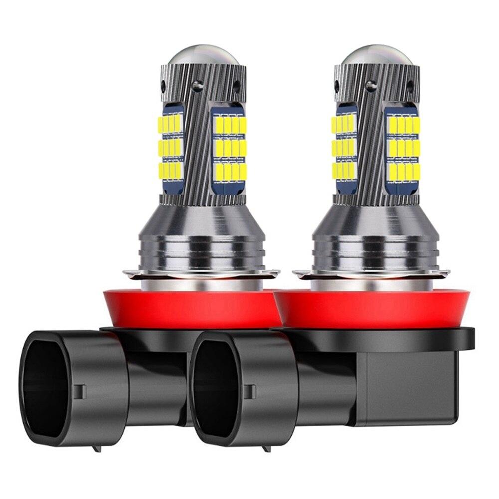 2 шт., Автомобильные противотуманные светодиодные лампы H1 H3 H11 H8 9006 HB4 881 880 H27 2016 к 6000