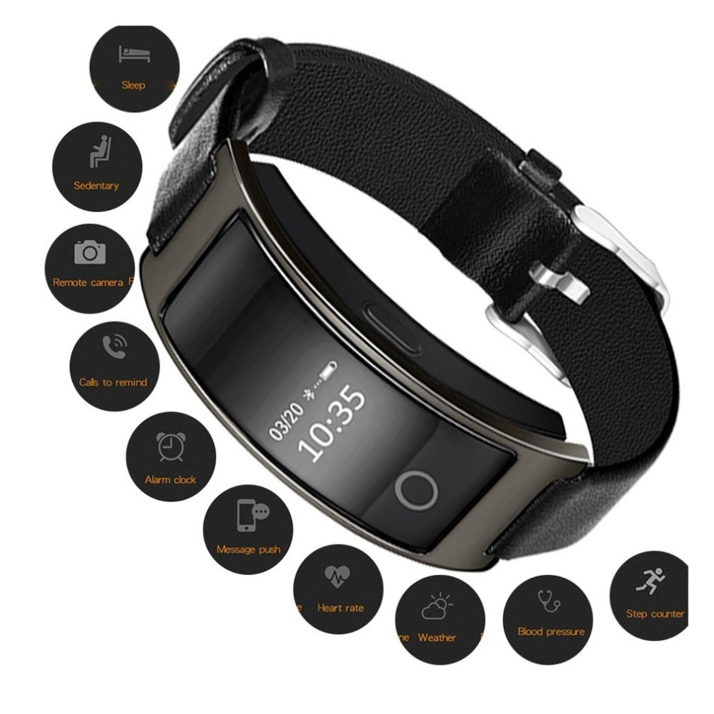 Smart Wristband Blood Pressure Heart Rate Monitor Tracker Bracelet Pedometer IP67 Waterproof Bluetooth Smartband Toiletry Kits