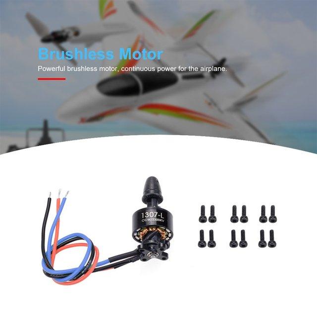 3 pièces/ensemble X450 RC avion 2300KV CCW/2300KV CW/2000KV CW 7.4V 1307 système de moteur sans balais RC avion pièces de rechange