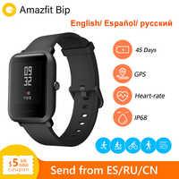 Huami Amazfit Bip Amazfit smartwatch gps monitor tętna bluetooth 45 dni żywotność baterii IP68 wodoodporny mężczyzna kobiet Smartatch