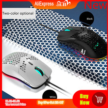 2020 New Lightweight Wired Mouse AJ390  Hollow Out Gaming Mouce Mice 6 DPI Adjustable 7Key AJ390R